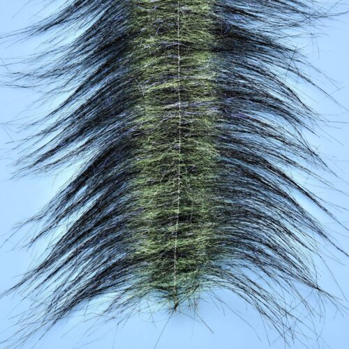 "EP™ CRAFTFUR BRUSH 3"" WIDE BLACK/CHARTREUSE"