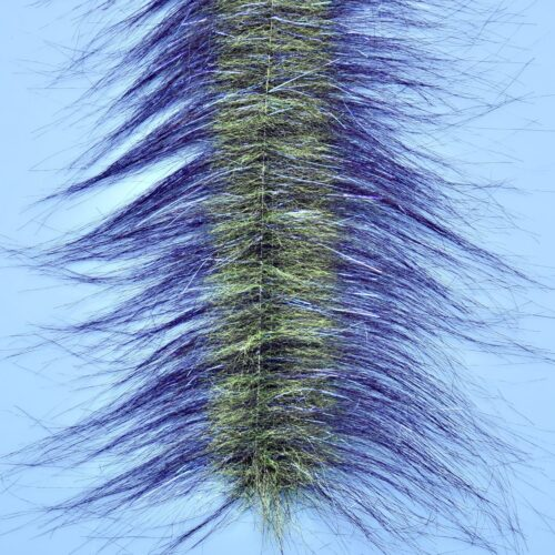 "EP™ CRAFTFUR BRUSH 3"" WIDE PURPLE/CHARTREUSE"
