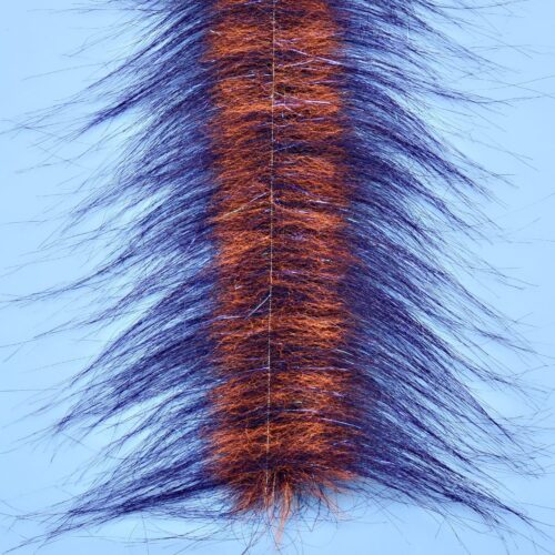 "EP™ CRAFTFUR BRUSH 3"" WIDE PURPLE/FL ORANGE"