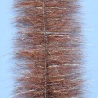 "EP™ STREAMER BRUSH w/MICRO LEGS 2.5"" WIDE BROWN"