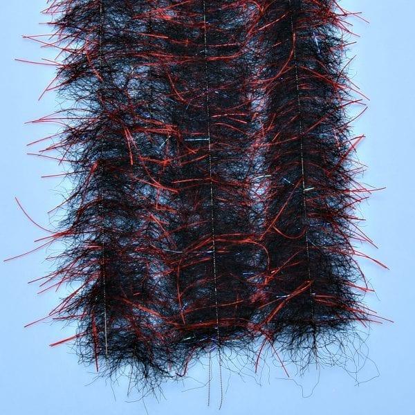 "EP™ TARANTULA HAIRY LEGS BRUSH 1"" WIDE RED/BLACK"
