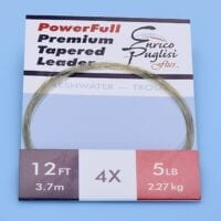 EP™ POWERFULL PREMIUM TROUT TAPERED LEADERS 12ft 4X