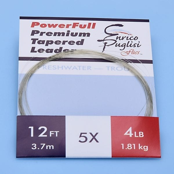 EP™ POWERFULL PREMIUM TROUT TAPERED LEADERS 12ft 5X