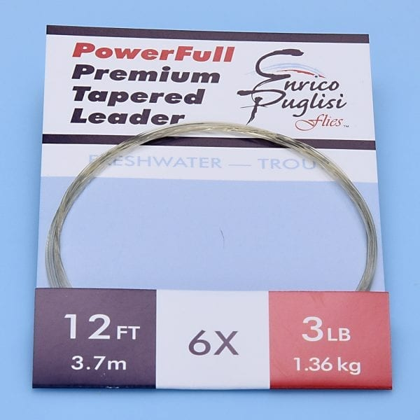 EP™ POWERFULL PREMIUM TROUT TAPERED LEADERS 12ft 6X