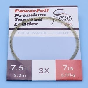 EP™ POWERFULL PREMIUM TROUT TAPERED LEADERS 7.5ft 3X