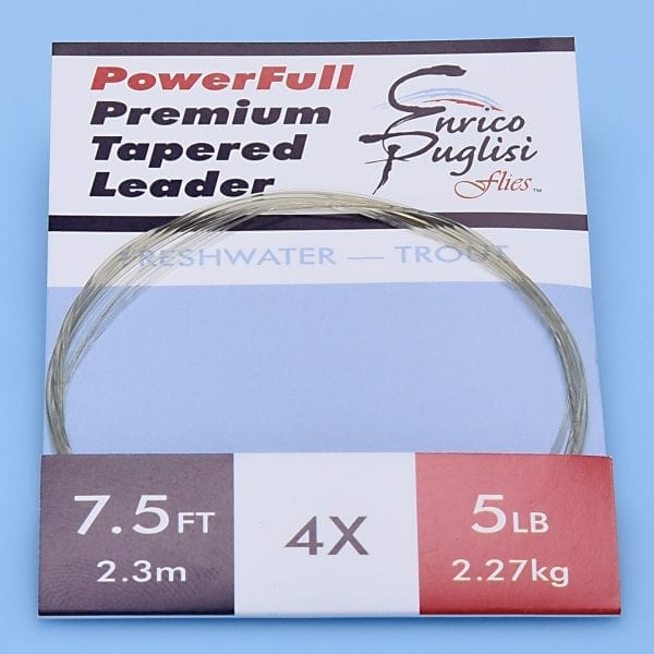 EP™ POWERFULL PREMIUM TROUT TAPERED LEADERS 7.5ft 4X