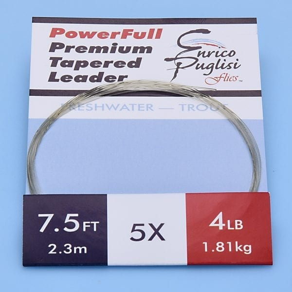 EP™ POWERFULL PREMIUM TROUT TAPERED LEADERS 7.5ft 5X