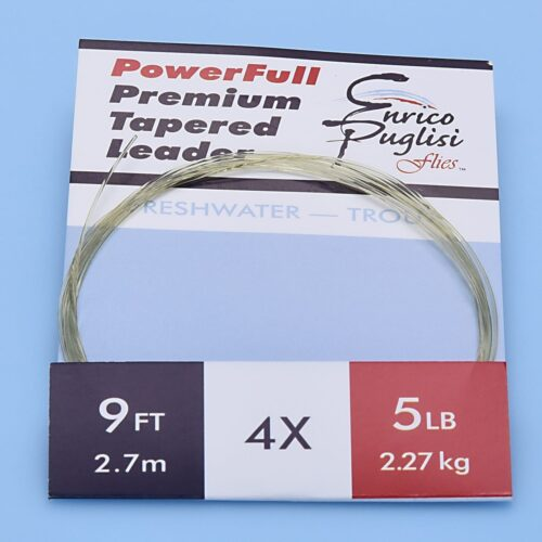 EP™ POWERFULL PREMIUM TROUT TAPERED LEADERS 9ft 4X