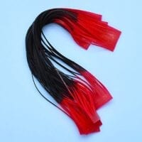 CRUSTACEOUS RUBBER LEGS BLACK/RED TIP
